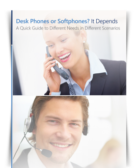 AudioCodes White Paper: Desk Phone or Softphones? It Depends...