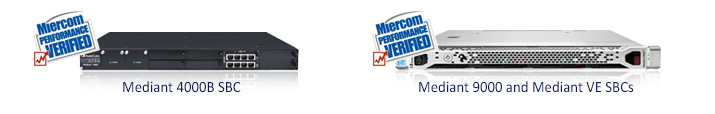 AudioCodes Session Border Controllers (SBC) Verified by Miercom